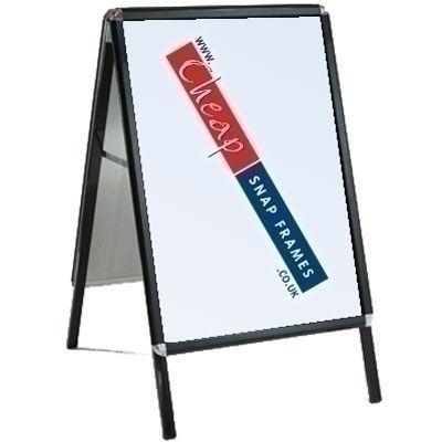 20 inch x 30 inch Black A-board