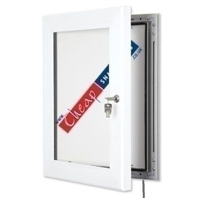 White A0 Outdoor LED Light Box   White Menu Box