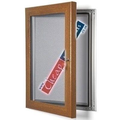 A2 Oak Effect Grey Pinboard