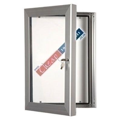 A2 Silver Lockable Notice Board