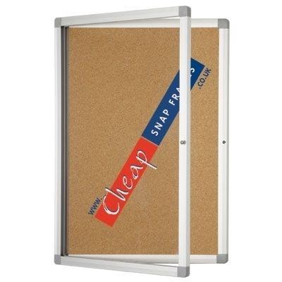 Budget Lockable Large Cork Notice Board