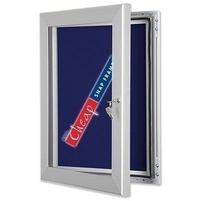 40x60 Lockable Blue Pinboard Notice Board